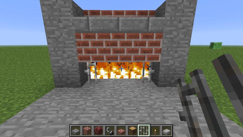 Постройки / b Как сделать камин в /b Minecraft?