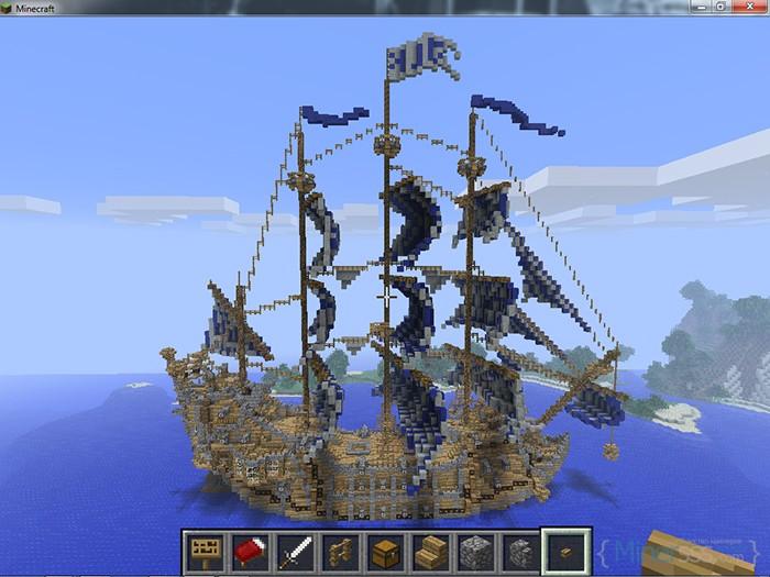 Корабль в Майнкрафт