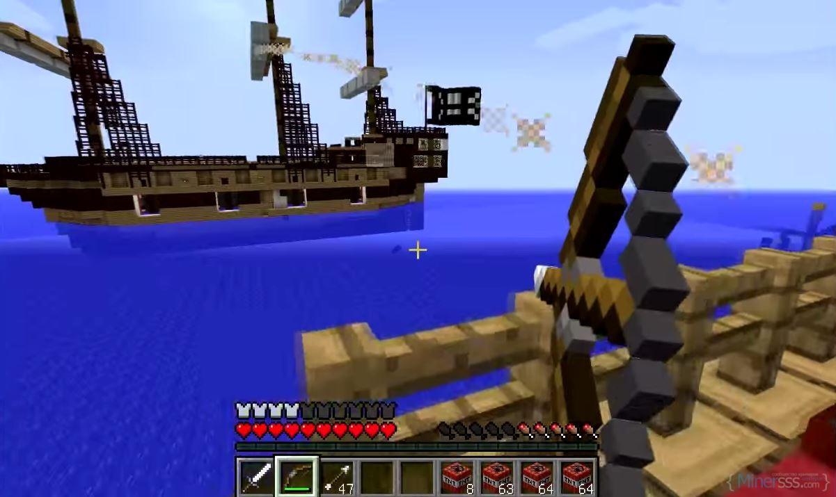 Морской бой в Майнкрафт