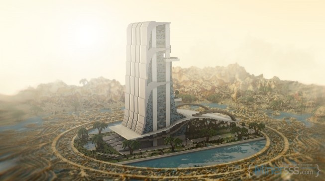 Oasis-Casino-minecraft-building-ideas-inc-beautiful-amazing-tower-water-design-exterior-4