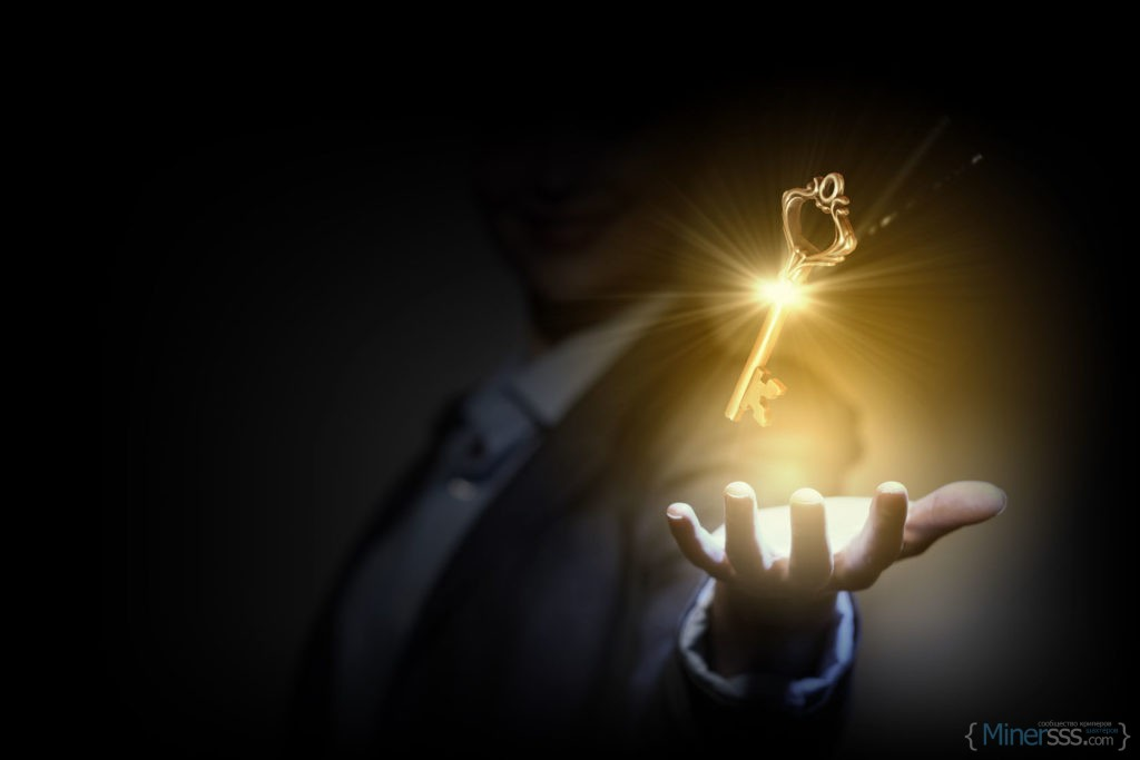 30572678 - close up image of business person holding shining key